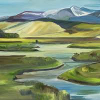 """""""Big Hole River"""" by allisonmcgreefineart"""