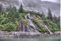 Waterfalls and Cliffs in Storm