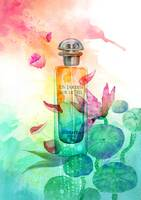 Perfume painting inspired by Hermes Un jardin