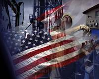 Dramatic American Flag-Oil Gas Industry-Tribute