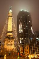 Monument Circle at Christmas