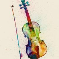 """""""Violin Abstract Watercolor"""" by ModernArtPrints"""