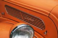 Orange Ford Anglia Bonnet iwth Badge