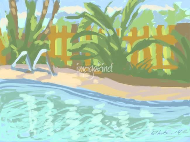 Stunning winter park artwork for sale on fine art prints for Winter garden pool