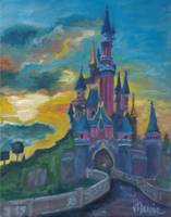 Sunset at Le Chateau of Sleeping Beauty