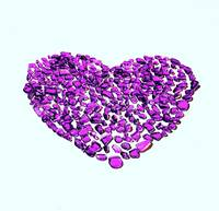 Beach Glass Purple Heart