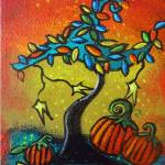 Autumn Celebration III,  Panel 3 by Juli Cady Ryan