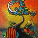 Autumn Celebration III, Panel 2 by Juli Cady Ryan