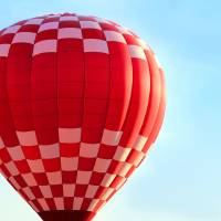 Red Check Balloon by Karen Adams
