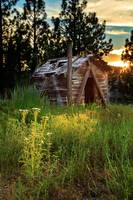 Old Cabin At Sunset