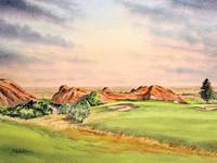 Arrowhead Golf Course Hole 3 Painting