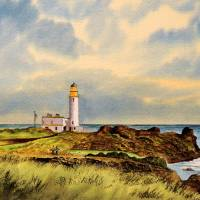 """""""Turnberry Golf Course Scotland 9Th Tee"""" by billholkham"""