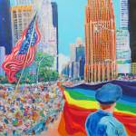 Rainbow River on 2nd Ave LGBT Pride Parade by RD Riccoboni