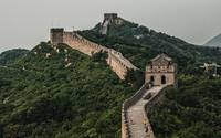 Hazy Great Wall of China