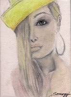 BLOND HAIR, YELLOW HAT