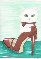 GREEN-EYED MONSTER IN A SHOE