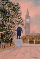 Churchill and Big Ben London