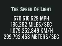 The Speed Of Light - Scientific Art Poster