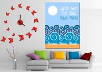 Lets go to the sea-side Minimalist Poster decor