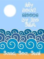 My heart sleeps by the sea Minimalist Poster