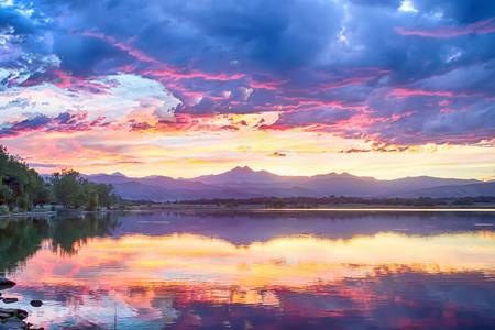 Scenic Colorado Rocky Mountain Sunset View
