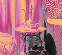 MOROCCAN TEA--HOT PINK-ORANGE