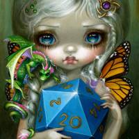 20 Sided Dice Fairy Art Prints & Posters by Jasmine Becket-Griffith