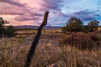 Fence Post at Sunset