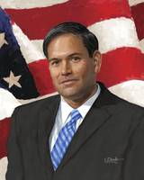 Rubio Head with Flag