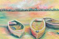 Summer Boats in Yellow