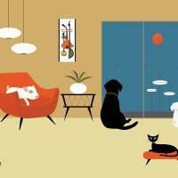 """""""Mid Century Modern Animals"""" by DMibus"""