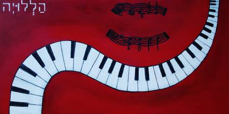 Piano Keys - Red Hot and Ready to Rock