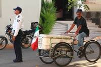 Street Vendor with Bicycle Cart, Mexico