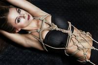 Tied up girl portrait - Fine Art of Bondage