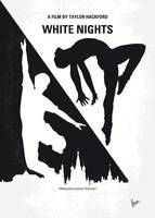 No554 My White Nights minimal movie poster