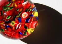 Red Candy Glass Abstract