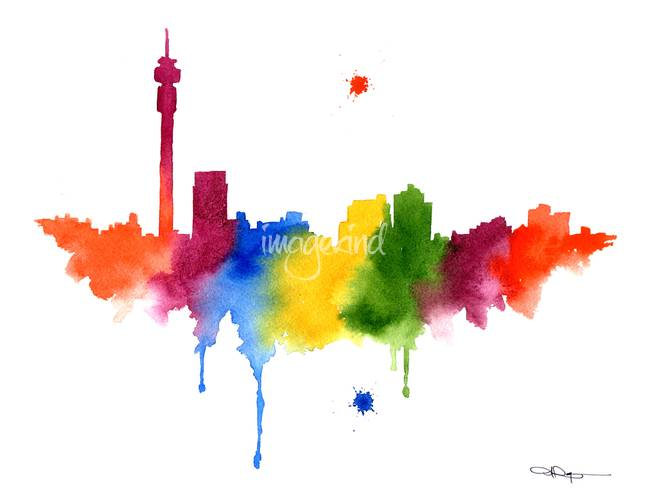 Stunning johannesburg skyline artwork for sale on fine art prints johannesburg skyline by k9artgallery 2015 thecheapjerseys Image collections