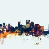 """Sacramento California Skyline"" by ModernArtPrints"