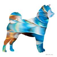 Decorative Husky Abstract O1015A