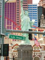 Las Vegas near Lady Liberty