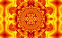 Lotus Mandala in Deep Orange and Yellow Pastels
