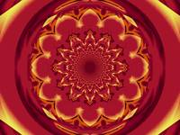 Calm Orange  Lotus Mandala 2