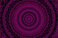 Psychedelic Pink and Purple Mandala