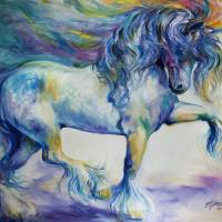 """MY GYPSY VANNER THRILL"" by MBaldwinFineArt2006"