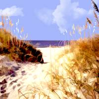 """""""A Peek Through the Dunes to the Ocean"""" by ElainePlesser"""