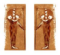 Egyptian Priests In Gold I