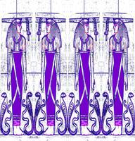 Egyptian Priests and Cobra White and Purple III