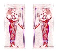 Egyptian Priests In White and Rose Red I
