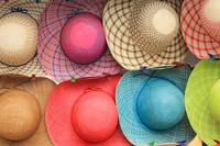 Colorful Straw Hats at the Market
