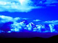 Mystical Mount Shasta in Blue